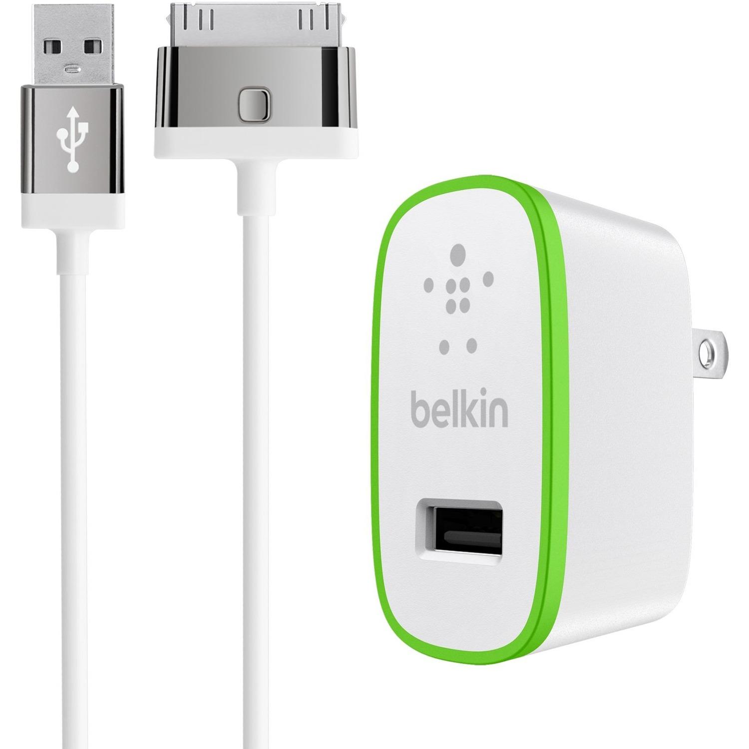 Belkin F8J141TT04-WHT Mixit Home Charger - Power Adapter - 10 Watt - 2.1 A ( Usb ) - On Cable: ...