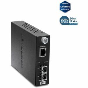 Convertidor de Media/Transceptor TRENDnet TFC-1000S20 - 2 Puerto(s) - 1 x Red (R