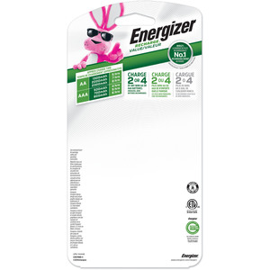 Energizer Recharge Value Charger for NiMH Rechargeable AA and AAA Batteries - AC Plug W/4 AA NI-MH BATT INCL