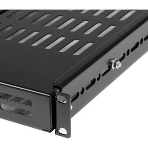 """StarTech.com 19"""" Schwerlast Fachboden tiefenverstellbar für Serverschrank mit Lüftungsschlitzen - 80 kg Static/Stationary"""
