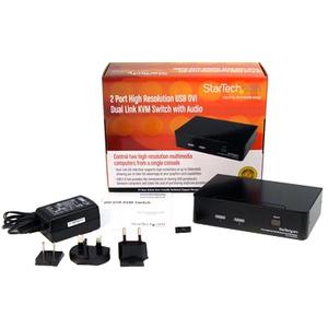 StarTech.com 2 Port Dual Link DVI USB KVM Switch mit Audio - DVI Desktop KVM Umschalter - 2 Computer - 1 Lokaler Benutzer(
