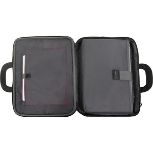 """ECO STYLE Tech Pro Carrying Case for 16.1"""" Notebook - Red - Ethylene Vinyl Acetate (EVA) - Checkpoint Friendly - Handle, S"""