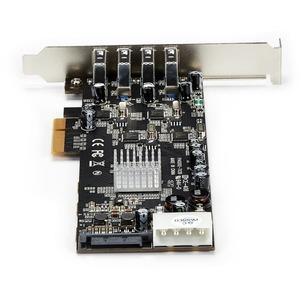 StarTech.com 4 Port USB 3.0 SuperSpeed PCI Express Schnittstellenkarte mit 4 5Gb/s Kanälen und UASP - SATA/LP4 Strom - UAS