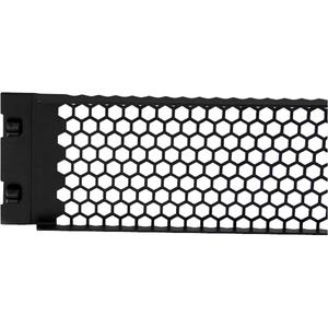 StarTech.com 2HE Werkzeuglose Rackblende mit Belüftung - Stahl - Schwarz - 2U Rack Height - 1 Paket - 88,9 mm Höhe - 482,6