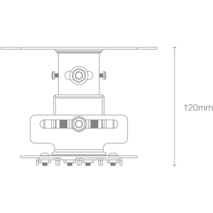 Optoma OCM818W-RU Ceiling Mount for Projector - White - 33.07 lb Load Capacity WHITE FITS MOST OPTOMA PROJECTORS