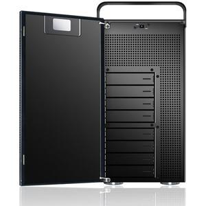 Sans Digital AccuNAS AN8L+B - NAS + iSCSI 5 Bay 64bit Network Storage Server Tower (Black) - Intel - 8 x HDD Supported - 9
