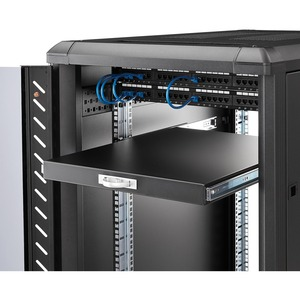 StarTech.com 1U Rackmount Rack-Regal für Server - Schwarz - TAA-konform - 25 kg Static/Stationary Weight Capacity
