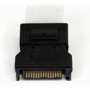 StarTech.com Adapter für Stromanschluss - 1 x Stecker SATA - 1 x LP4 Buchse Power - Schwarz