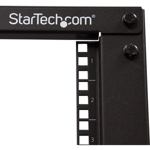 StarTech.com 12U Bodenstehend Offene Ausführung Rackschrank für Server, LAN-Schalter, A/V-Geräte, Patchfeld, KVM-Schalter