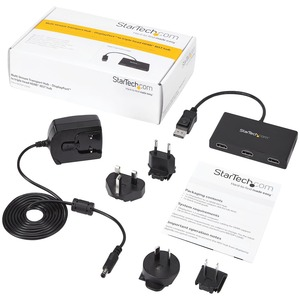 StarTech.com Signalverteiler - Plastik - 3840 × 2160 - 15,20 m Maximale Betriebsreichweite - DisplayPort - HDMI Aus