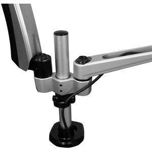 StarTech.com ARMDUAL30 Montagearm für Monitor - Schwarz, Silber - TAA-konform - 2 Unterstützte(r) Display(s)Bildschirmgröß