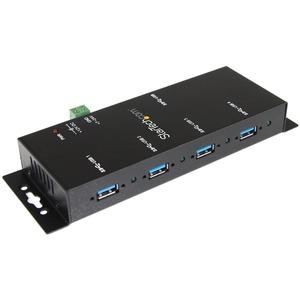 StarTech.com USB/FireWire-Hub - USB - Extern - Schwarz - TAA-konform - 4 Total USB Port(s) - 4 USB 3.0 Port(s) - PC