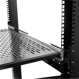 StarTech.com 2U Rack-Regal - 482,60 mm Rack Width - Schwarz - TAA-konform - 22,68 kg Maximale Gewichtskapazität