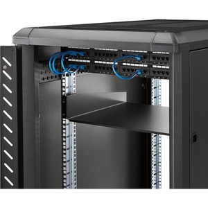 StarTech.com 2U Rackmount Rack-Regal - 482,60 mm Rack Width - Schwarz - TAA-konform - 20 kg Static/Stationary Weight Capacity