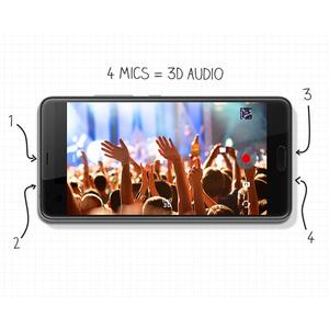 HTC U Ultra 128 GB Smartphone - 14,5 cm (5,7 Zoll) LCD QHD 1440 x 2560 - 4 GB RAM - Android 7.0 Nougat - 4G - Schwarz - Ba