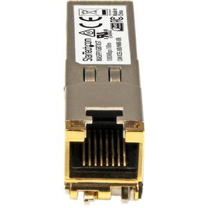 StarTech.com SFP (Mini-GBIC) - für Datenvernetzung, Optisches Netzwerk - Verdrilltes DoppelkabelGigabit-Ethernet - 10/100/
