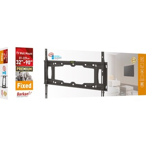 """Barkan E400+ Wall Mount for TV - Black - Adjustable Height - 1 Display(s) Supported - 32"""" to 90"""" Screen Support - 465.18 l"""