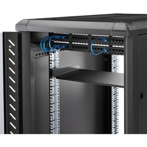 StarTech.com Server Rack Fachboden 1 HE - 25 cm Tief - 20,05 kg Static/Stationary Weight Capacity