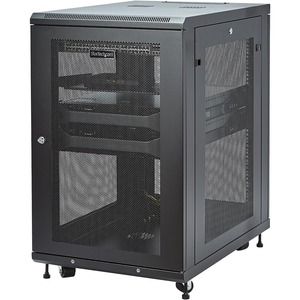StarTech.com 18U Bodenstehend Rackschrank für Server, LAN-Schalter, Patchfeld, A/V-Geräte - 482,60 mm Rack Width x 787,40