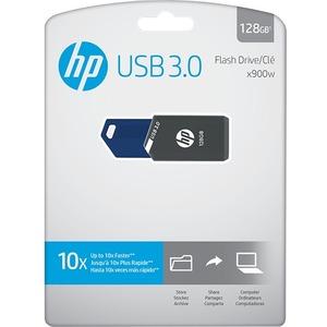 HP 128GB X900W USB 3.0 Flash Drive - 128 GB - USB 3.0 - 2 Year Warranty DRIVE