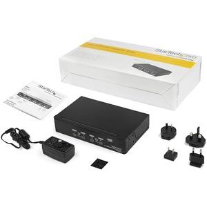 StarTech.com 4 Port DisplayPort KVM Switch - DisplayPort 1.2 KVM - 4K 60Hz - 4 Computer - 1 Lokaler Benutzer(n) - 3840 x 2