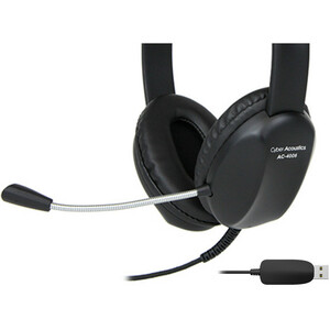Cyber Acoustics AC-4006 USB Stereo Headset - Stereo - USB - Wired - 20 Hz - 20 kHz - Over-the-head - Binaural - Supra-aura