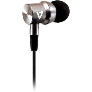 V7 HA111-3EB Wired Earbud Stereo Earset - Silver - Binaural - In-ear - 32 Ohm - 20 Hz to 20 kHz - 120 cm Cable - Mini-phon