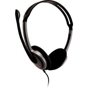 V7 HA212-2EP Kabel Kopfbügel, Auf den Ohren Stereo Headset - Schwarz - Binaural - Ohraufliegend - 20 Hz bis 20 kHz Frequen
