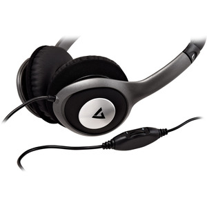 DELUXE 3.5MM STEREO HEADPHONES W/VOL CONTROL 1.8M CABLE IN