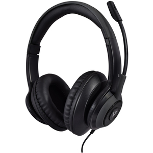 V7 Premium Over-Ear Stereo Headset with Boom Mic - Stereo - USB, Mini-phone (3.5mm) - Wired - 32 Ohm - 20 Hz - 20 kHz - Ov