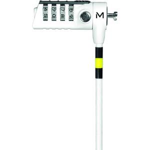 Câble de verrouillage MOBILIS Pour Ordinateur - 1,80 m Câble - 4-chiffres - Blanc - Acier Durci - Pour Ordinateur