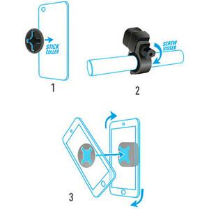 Montage Embarqué MOBILIS U.FIX pour Smartphone - Noir