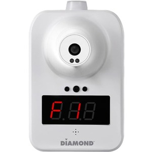 DIAMOND Wall-Mounted Infrared Non-Contact Forehead and Body Thermometer - Non-contact, Large Display, Touchless, Alarm - F