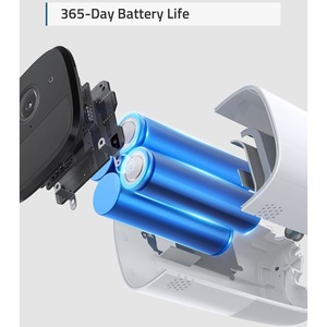 Eufy T88511D1 Video Surveillance System - Wireless Hub, Camera - 2048 x 1080 Camera Resolution - 2K Recording - Apple Home