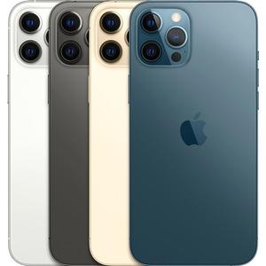"""Smartphone Apple iPhone 12 Pro A2407 128 Go - 5G - Écran 15,5 cm (6,1"""") OLED2532 x 1170 - 6 Go RAM - Argenté - Barre - 2 S"""