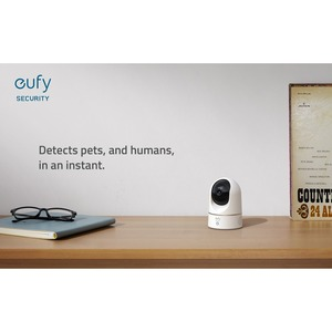 Eufy HD Surveillance Camera - 1 Pack - 32.81 ft - H.264, H.265 - CMOS - Bracket Mount - Weather Resistant WHITE ITERATION 1