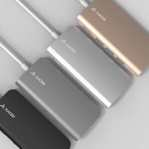 Juiced Systems BizHUB - USB-C Multiport Gigabit HDMI Adapter - Silver - USB Type C - 4K - 3 x USB 3.0 - 3 x USB Type-A Por
