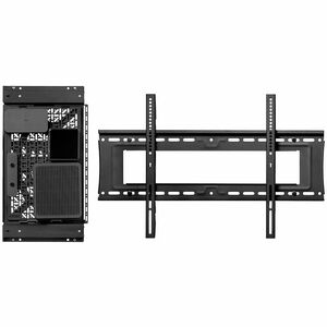 Atdec media storage sliding panel - Universal mounting hole pattern - For media and networking devices - Generous mounting