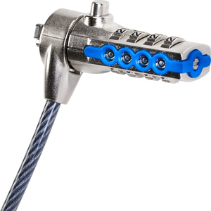 Câble de verrouillage Targus DEFCON PA410E - 2 m Câble - Réinitialisable - 4-chiffres - Noir - Acier galvanisé