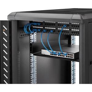 "StarTech.com 2U Server Rack Cabinet Shelf - Fixed 22"" Deep Cantilever Rackmount Tray for 19"" Data/AV/Network Enclosure w/c"