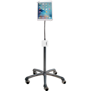 """CTA Digital Heavy-Duty Security Gooseneck Floor Stand for 7-13 Inch Tablets - Up to 13"""" Screen Support - 58"""" Height - Floo"""