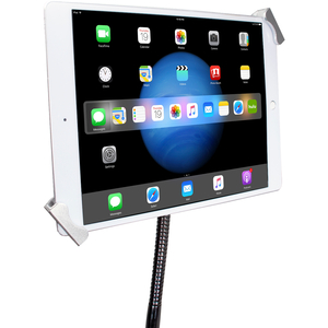 """CTA Digital Compact Security Gooseneck Floor Stand for 7-13 Inch Tablets - Up to 13"""" Screen Support - 7"""" Height x 17.5"""" Wi"""