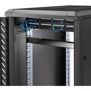 StarTech.com 1U Rack-Regal für LAN-Schalter, Patchfeld, Server - 482,60 mm Rack Width - Schwarz - TAA-konform - 15,06 kg S