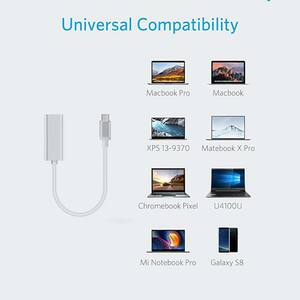4XEM USB-C to Ethernet Adaptor - USB 3.1 Type C - Portable ETHERNET NETWORK LAN CARD ADAPTER