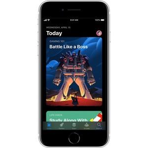 "Smartphone Apple iPhone SE A2296 128 Go - 4G - Écran 11,9 cm (4,7"") LCD HD 750 x 1334 - 3 Go RAM - iOS 13 - Blanc - Barre"