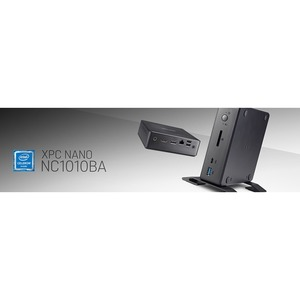 Desktop Computer Shuttle XPC nano NC1010BA - Intel Celeron 4205U 1,80 GHz Prozessor - 4 GB RAM DDR4 SDRAM - 64 GB SSD - Mi