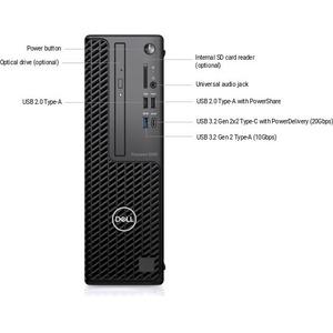 Dell Precision 3000 3450 Workstation - Intel Core i7 Octa-core (8 Core) i7-10700 10th Gen 2.90 GHz - 16 GB DDR4 SDRAM RAM
