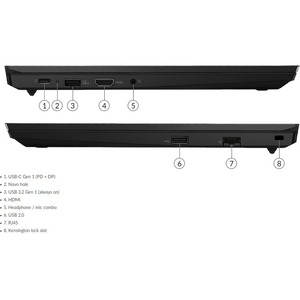 "Ordinateur Portable - Lenovo ThinkPad E15 G2 20TD0002FR - Écran 39,6 cm (15,6"") - Full HD - 1920 x 1080 - Intel Core i7 11"
