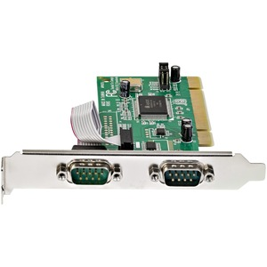 StarTech.com Serial adapter card - PCI - serial - 2 ports - 2 x 9-pin DB-9 Male 16C550 Serial