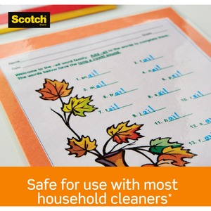 """Scotch Thermal Laminating Pouches - Sheet Size Supported: Letter 8.50"""" Width x 11"""" Length - Laminating Pouch/Sheet Size: 9"""